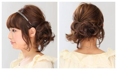 女人味十足 三款超简单短发编发