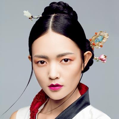 灵动有韵味的中式新娘发型