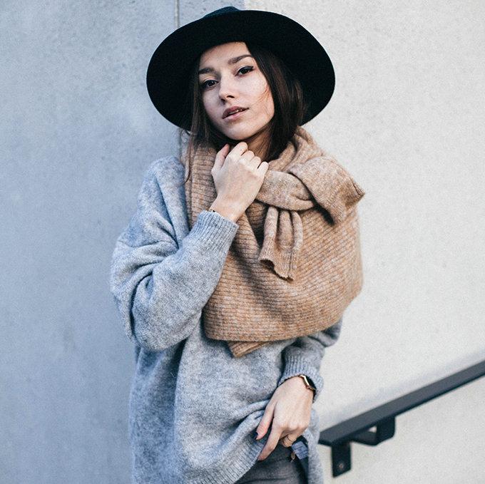巧搭围巾提升整体时尚度