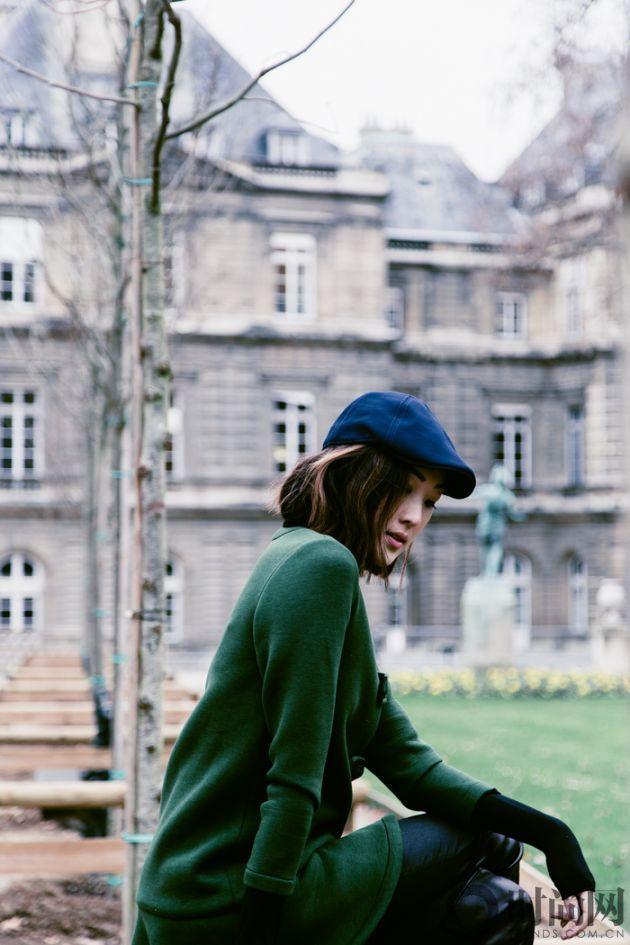chriselle_lim_green_coat_paris_luxemberg-2-3