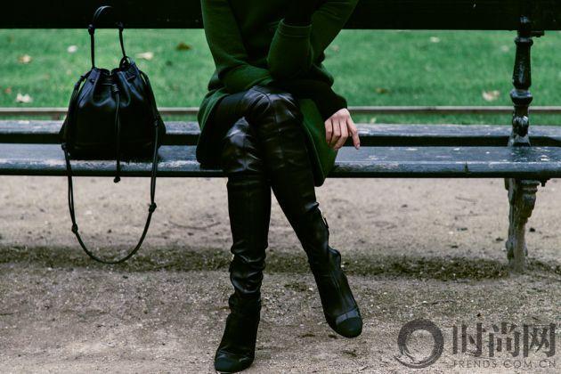 chriselle_lim_green_coat_paris_luxemberg-3