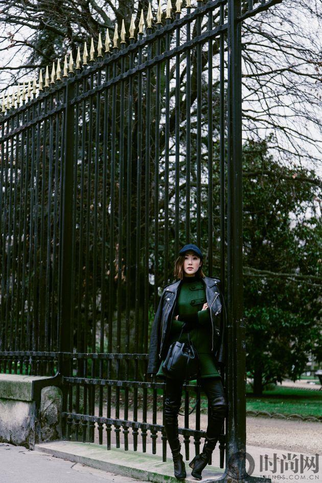 chriselle_lim_green_coat_paris_luxemberg-1-3