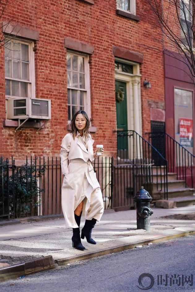 aimee_song_of_style_ralph_lauren_white_shirt_dress_tibi_coat