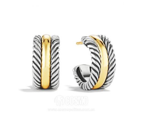Cable Collectibles Hoop Earrings 售价450美元 可在davidyurman网站购买